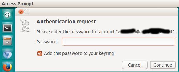 Authentication request