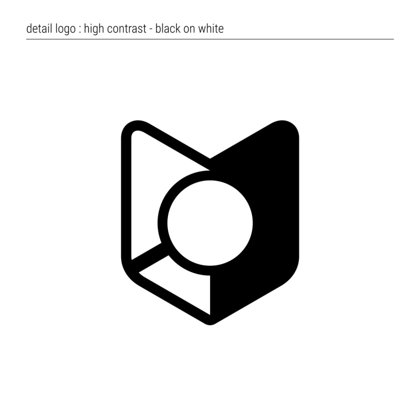 OneSearch | Detail Logo: High Contrast Black on White